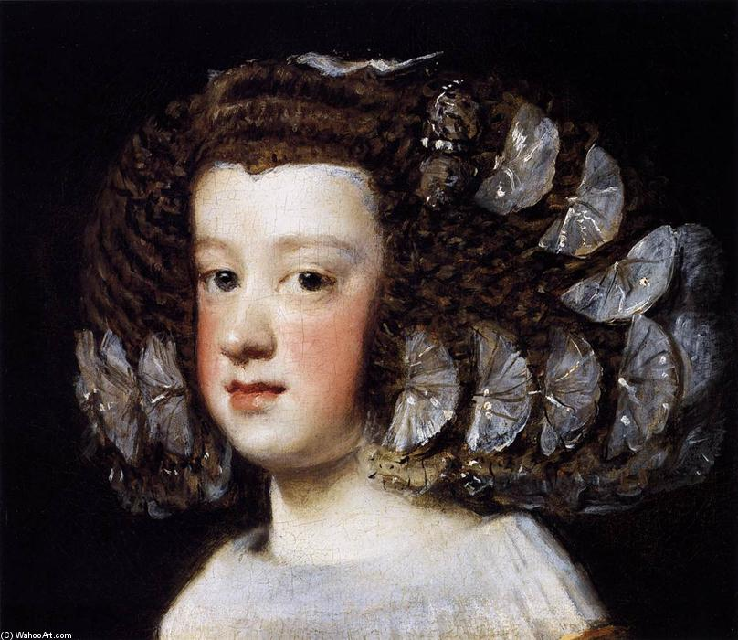 Infanta María Teresa, Oil On Canvas by Diego Velazquez (1599-1660, Spain)