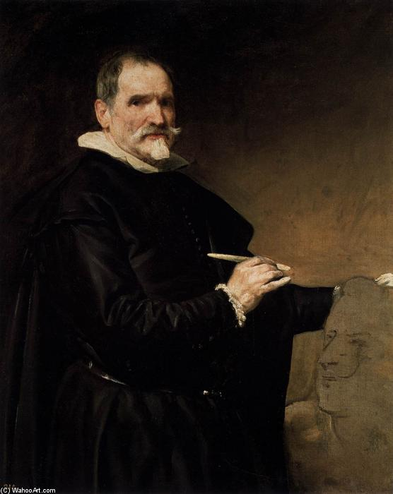 Juan Martinez Montañés, Oil On Canvas by Diego Velazquez (1599-1660, Spain)