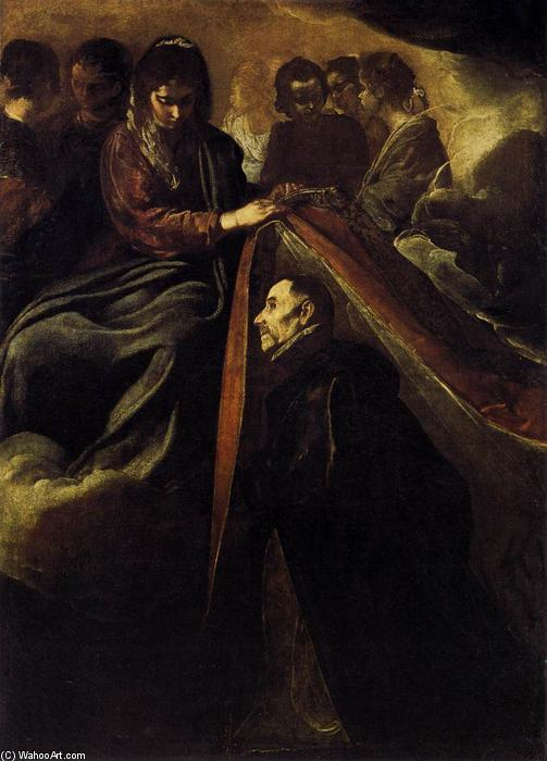 St Ildefonso Receiving the Chasuble from the Virgin, Oil On Canvas by Diego Velazquez (1599-1660, Spain)