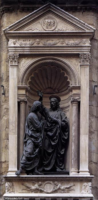 Order Museum Quality Copies | Christ and Doubting Thomas, 1476 by Andrea Del Verrocchio (1435-1488, Italy) | ArtsDot.com