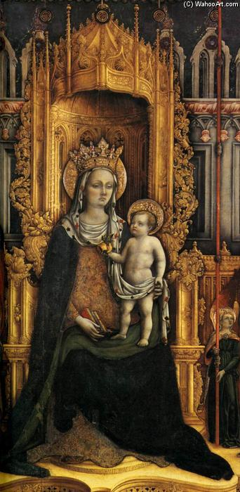 Triptych (detail) (11), Tempera by Antonio Vivarini (1440-1480, Italy)
