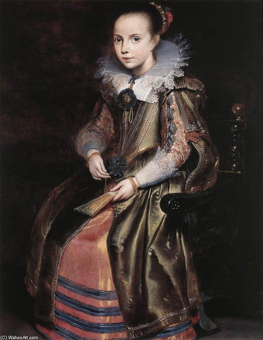 Elisabeth (or Cornelia) Vekemans as a Young Girl, Oil by Cornelis De Vos (1585-1651, Belgium)