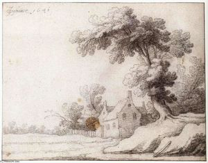 Jacob Woutersz Vosmaer - Landscape with a Tall Tree on ..