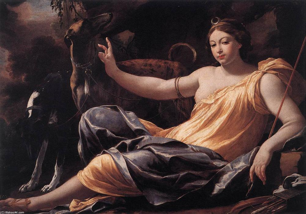Diana, Oil On Canvas by Simon Vouet (1590-1649, France)