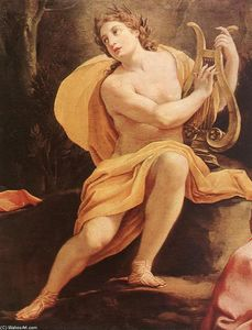 Simon Vouet - Parnassus or Apollo and the Muses (detail)