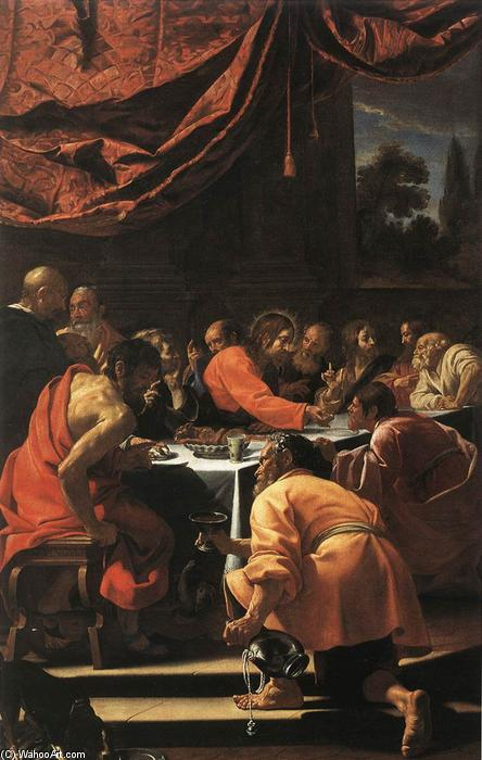 The Last Supper, Oil On Canvas by Simon Vouet (1590-1649, France)