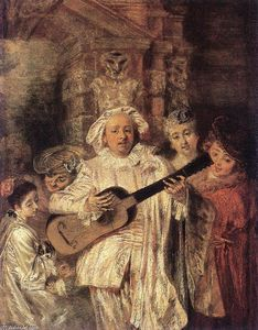 Jean Antoine Watteau - Gilles and his Family