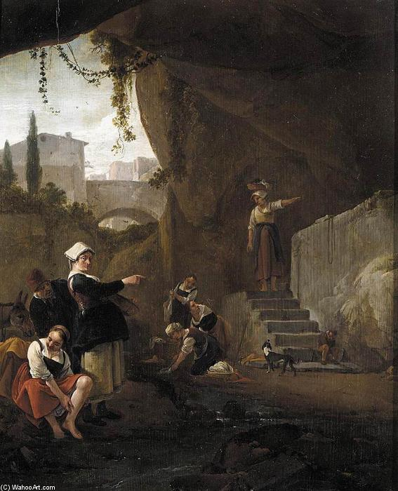 Interior of a Cave, Oil On Panel by Thomas Wijck (1616-1677, Dutch Republic)