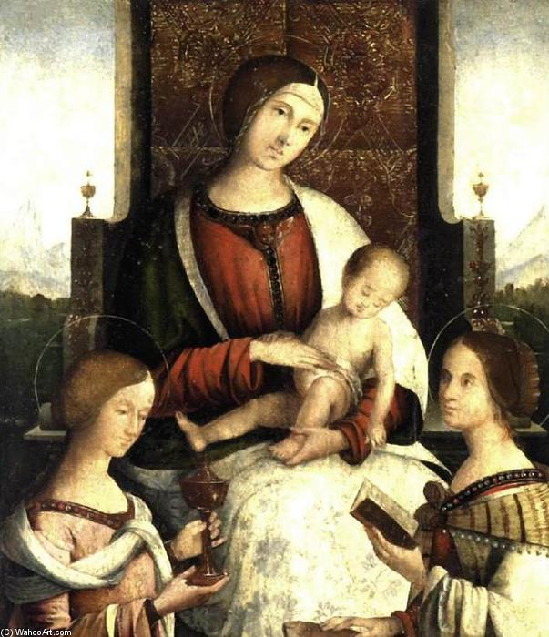 Madonna and Child with Sts Mary Magdalene and Catherine of Alexandria, Tempera by Bernardino Di Bosio Zaganelli (1465-1510, Italy)