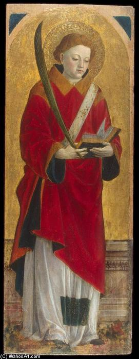 St Stephen the Martyr, Tempera by Vincenzo Foppa (1427-1515, Italy)