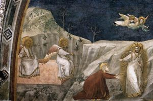 Giotto Di Bondone - Scenes from the Life of Mary Magdalene: Noli me tangere