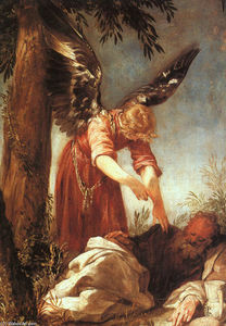 Juan Antonio Frias Y Escalante - An Angel Awakens the Prophet E..