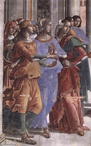 Domenico Ghirlandaio - Presentation of the Virgin at the Temple (detail) (10)