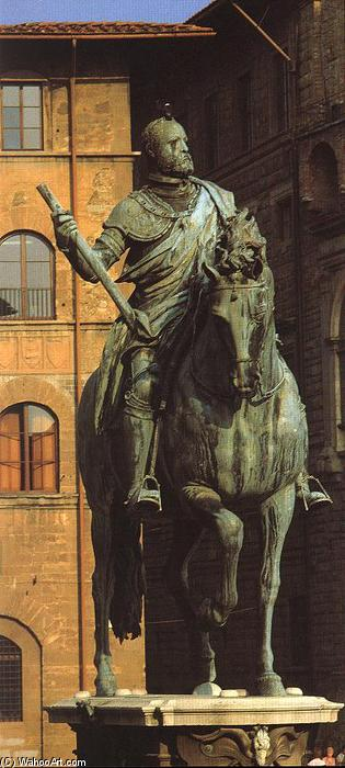 Equestrian Portrait of Cosimo I (11), 1587 by Giambologna (1529-1608, France) | Oil Painting | ArtsDot.com