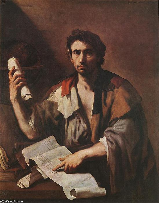 A Cynical Philospher, Oil On Canvas by Luca Giordano (1634-1705, Italy)