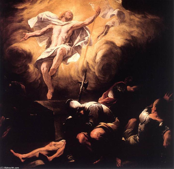 Resurrection, Oil On Canvas by Luca Giordano (1634-1705, Italy)