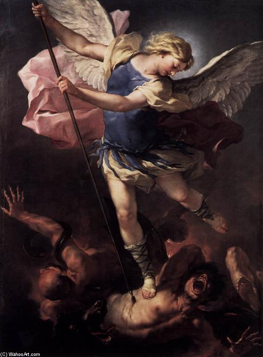 St Michael, Oil On Canvas by Luca Giordano (1634-1705, Italy)