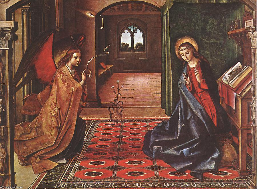 Annunciation, Panel by Pedro Berruguete (1450-1504, Spain)