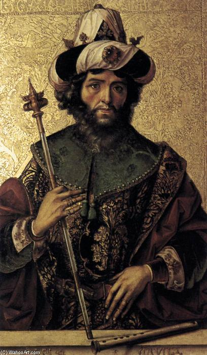 David, Oil by Pedro Berruguete (1450-1504, Spain)