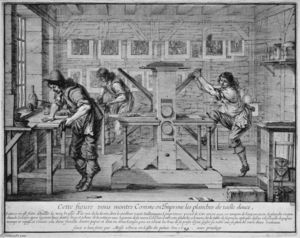 Abraham Bosse - A Printer's Workshop