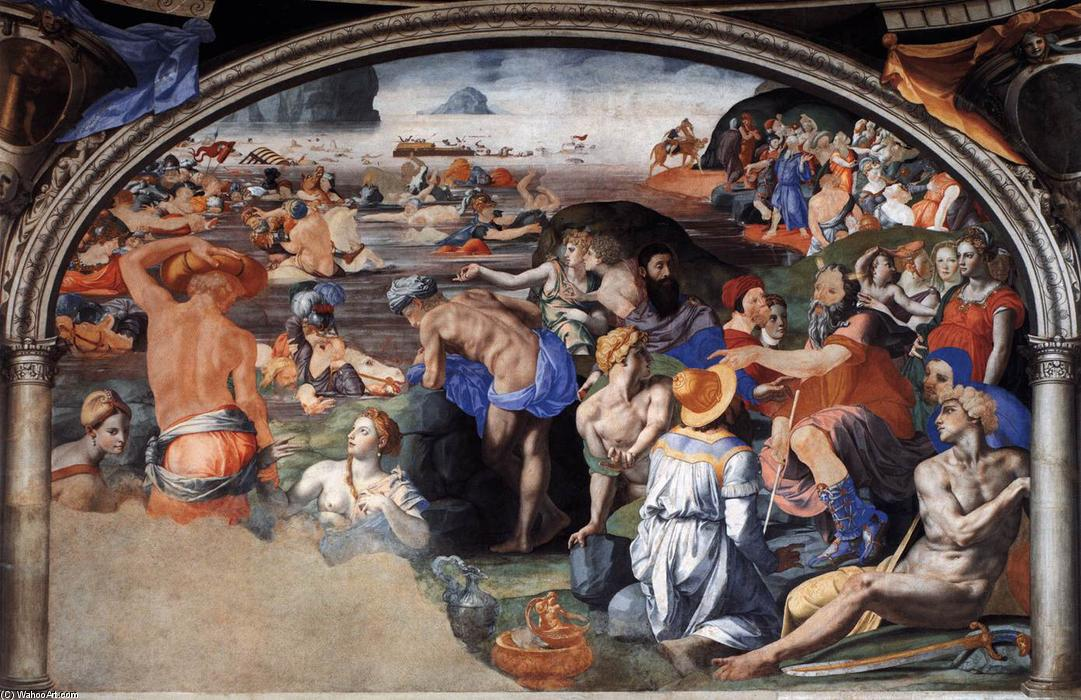 Crossing of the Red Sea, 1542 by Agnolo Bronzino (1503-1572, Italy) | Art Reproductions Agnolo Bronzino | ArtsDot.com