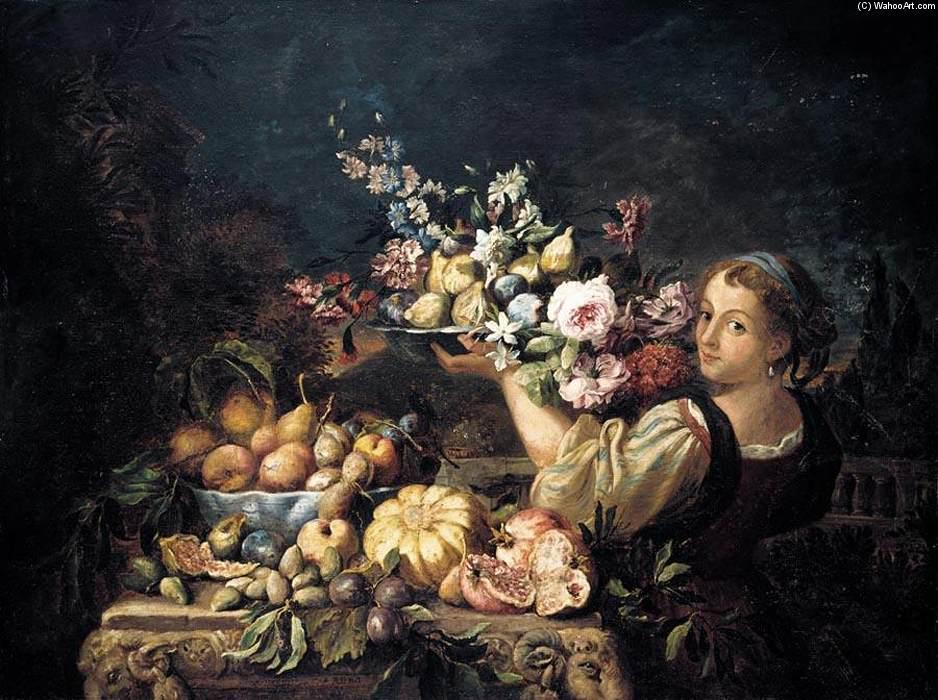 Still-Life, Oil On Canvas by Abraham Brueghel (1631-1690, Belgium)