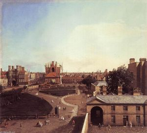 Giovanni Antonio Canal (Canaletto) - London: Whitehall and the Privy Garden from Richmond House