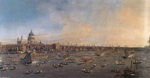 Giovanni Antonio Canal (Canaletto) - The River Thames with St. Paul-s Cathedral on Lord Mayor-s Day