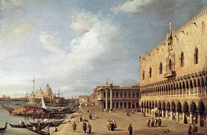 Giovanni Antonio Canal (Canaletto) - View of the Ducal Palace