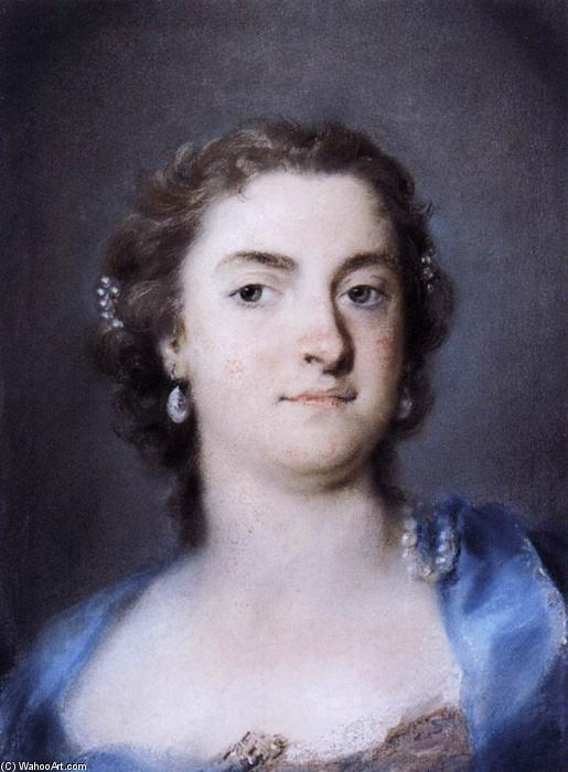 Portrait of Faustina Bordoni Hasse, Pastel by Rosalba Carriera (1675-1757, Italy)