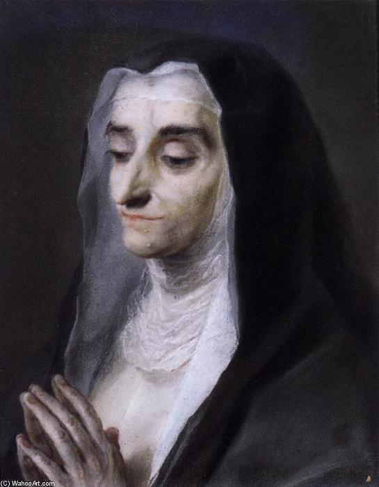 Portrait of Sister Maria Caterina, Pastel by Rosalba Carriera (1675-1757, Italy)