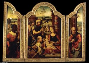 Pieter Coecke Van Aelst - Triptych: Adoration of the Magi