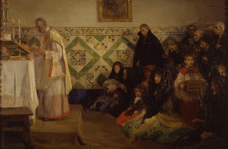 La Misa by Jose Benlliure Gil (1858-1937, Spain) | Painting Copy | ArtsDot.com