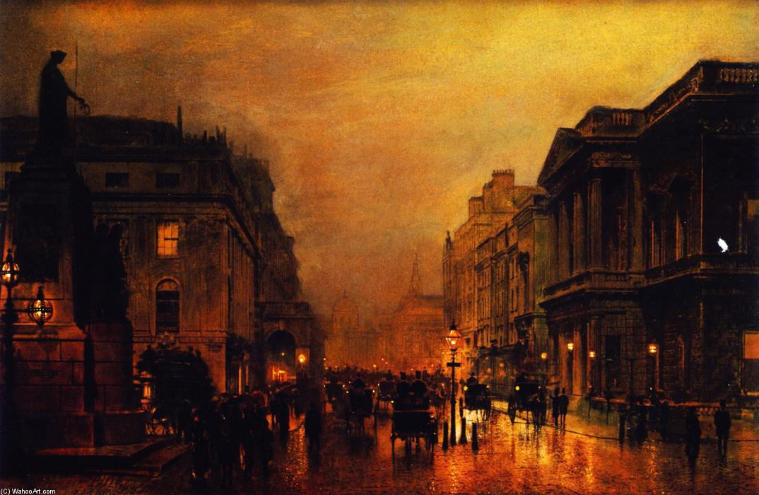 London, Pall Mall, and Saint James Street, Painting by John Atkinson Grimshaw (1836-1893, United Kingdom)