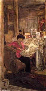 Jean Edouard Vuillard - Lucy Hessel Reading the Newspaper, rue de Naples