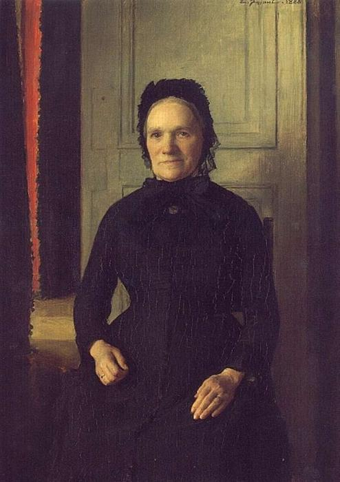 Madame Coquelin Mere, Oil On Canvas by Émile Friant (1863-1932, France)