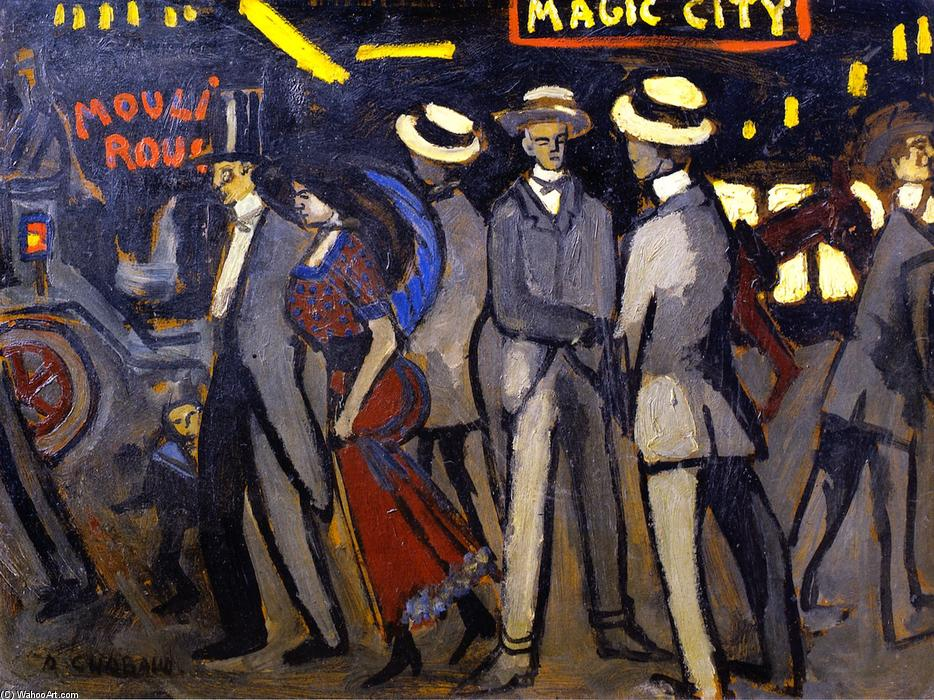 Magic-City, Oil On Canvas by Auguste Chabaud (1882-1955, France)