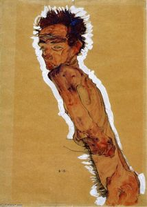 Egon Schiele - Male Nude in Profile Facing Left (also known as Self Portrait)