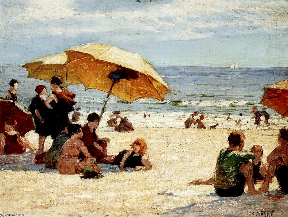 Manhattan Beach by Edward Henry Potthast (1857-1927, United States) | Museum Quality Copies Edward Henry Potthast | ArtsDot.com