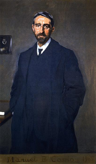 Manuel B. Cossio, Oil On Canvas by Joaquin Sorolla Y Bastida (1863-1923, Spain)