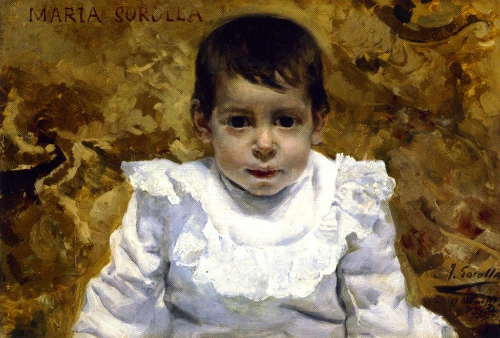 María Sorolla (also known as The Baby Girl), Oil On Canvas by Joaquin Sorolla Y Bastida (1863-1923, Spain)