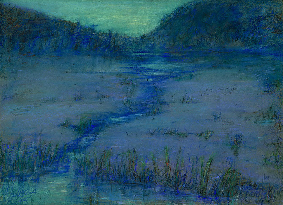 Marshlands at Sundown, 1908 by Alice Pike Barney (1857-1931, United States) | Reproductions Alice Pike Barney | ArtsDot.com