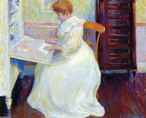 Theodore Earl Butler - Martha at Her Desk