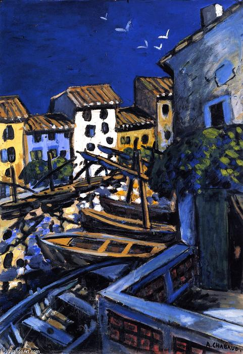 Martigues, Oil On Panel by Auguste Chabaud (1882-1955, France)