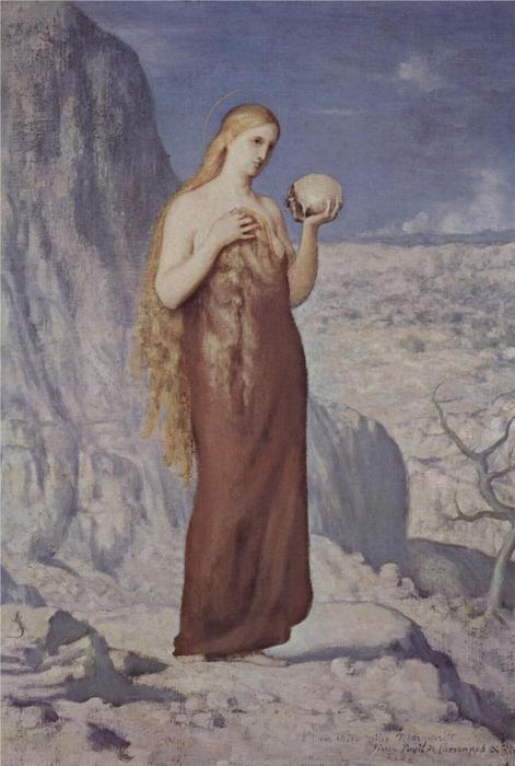 Mary Magdalene in the Desert, 1869 by Pierre Puvis De Chavannes (1824-1898, France) | ArtsDot.com