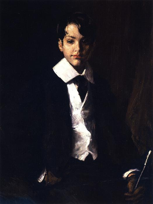 Master Roland Dana Chase, Oil On Canvas by William Merritt Chase (1849-1916, United States)