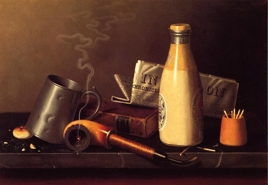 Materials for a Leisure Hour, Oil On Canvas by William Michael Harnett (1848-1892, Ireland)
