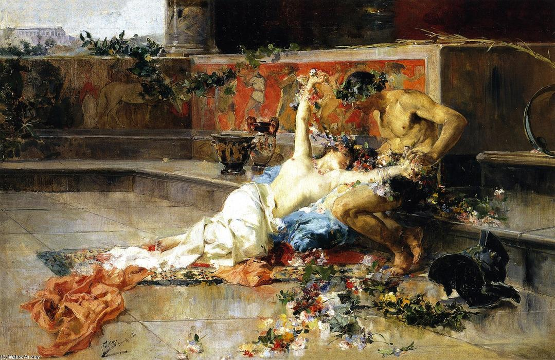Messalina in the Arms of the Gladiator, Oil On Canvas by Joaquin Sorolla Y Bastida (1863-1923, Spain)