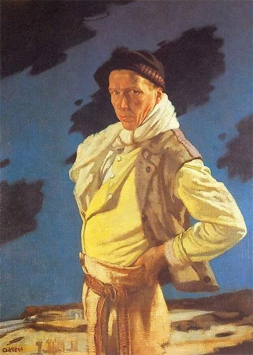 The Man from Aran, Oil On Canvas by William Newenham Montague Orpen (1878-1931, Ireland)