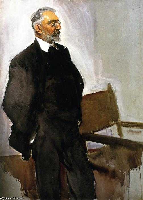 Miguel de Unamuno, Oil On Canvas by Joaquin Sorolla Y Bastida (1863-1923, Spain)